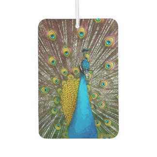 Royal Peacock with Teal Gold and Blue Plumage