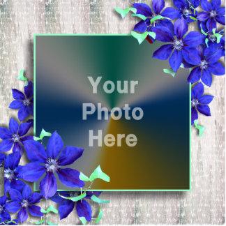 Royal Purple Flowers Photo Frame - Photo Sculpture