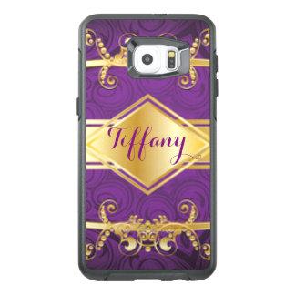 Royal Purple & Gold Pattern Print Design