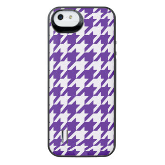 Royal Purple Houndstooth 1 iPhone SE/5/5s Battery Case
