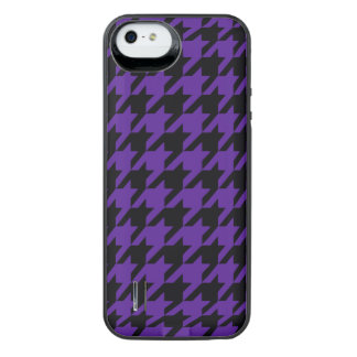 Royal Purple Houndstooth 2 iPhone SE/5/5s Battery Case