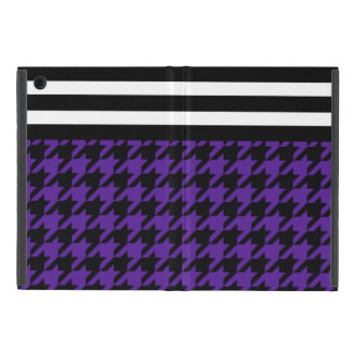 Royal Purple Houndstooth w/ Stripes 2 Case For iPad Mini