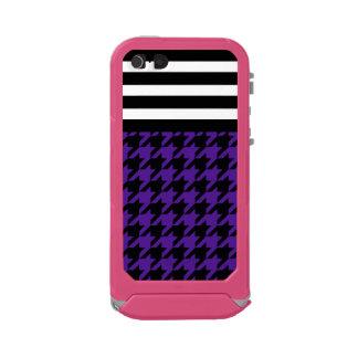 Royal Purple Houndstooth w/ Stripes 2 Incipio ATLAS ID™ iPhone 5 Case