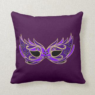 Royal Purple Masquerade mask Cushion
