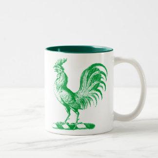 Royal Rooster Teal Coffee Mugs