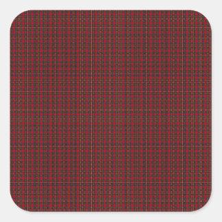 Royal Stewart Clan Tartan Square Sticker