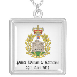 Royal Wedding Square Pendant Necklace