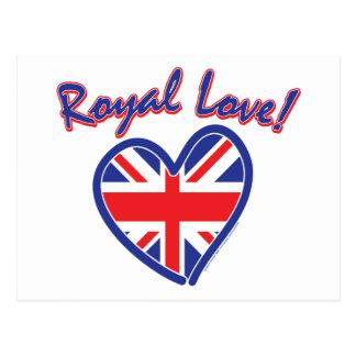 Royal Wedding, Royal Love, Union Jack Heart Postcard