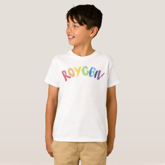 ROYGBIV Colors of the Rainbow Graphic Tee shirt