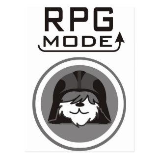 RPG Mode with  Helmet on a dog Postcard
