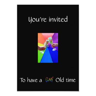 rRainbow New Years Eve Invitation