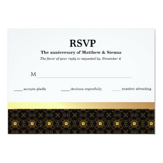 RSVP Batik Anniversary Card