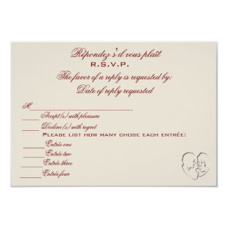 RSVP/Because Two People Fell In Love Invitation