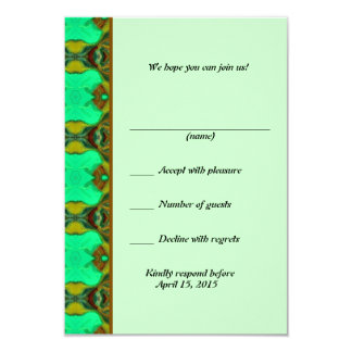 RSVP card 9 Cm X 13 Cm Invitation Card