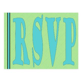 RSVP Card-GreenAqua Postcard