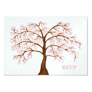 "RSVP Cherry Blossom Sakura Pearl Wedding Cards 3.5"" X 5"" Invitation Card"