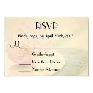 RSVP Delicate Soft Pink Cherry Blossom Flower 9 Cm X 13 Cm Invitation Card