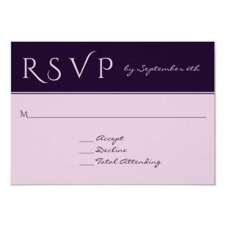 RSVP Elegant Dark Plum Affordable Wedding Response Card