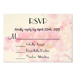 "RSVP Elegant Pastel Pink Cherry Blossoms 3.5"" X 5"" Invitation Card"
