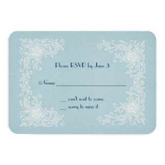 RSVP for Vow Renewal-lace corners 9 Cm X 13 Cm Invitation Card