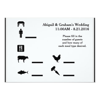 RSVP Guests and Meal Options Card