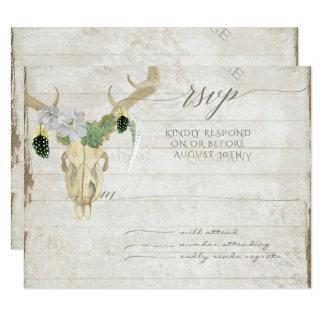 RSVP Minimalist Western Cactus Deer Skull Antlers 11 Cm X 14 Cm Invitation Card