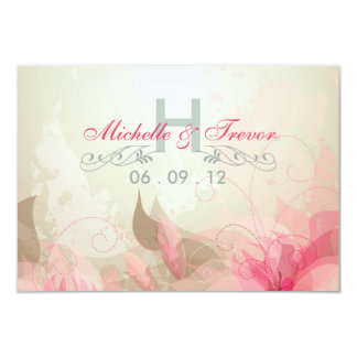 RSVP - Modern Floral Abstract Wedding Invitations