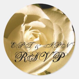 RSVP Monogram Wedding Sticker
