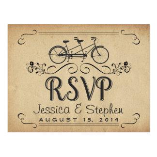 RSVP Vintage Tandem Bicycle Reply Postcards