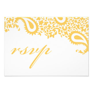 RSVP Wedding Indian Style Card Personalised Invitation