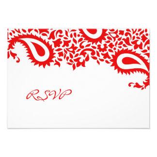 RSVP Wedding Indian Style Card Custom Invites