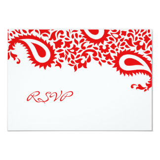 "RSVP Wedding Indian Style Card 3.5"" X 5"" Invitation Card"