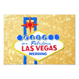 RSVP Wedding Reception Las Vegas Golden Card