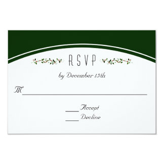 RSVP Winter Holiday Wedding Green Topper Response Card