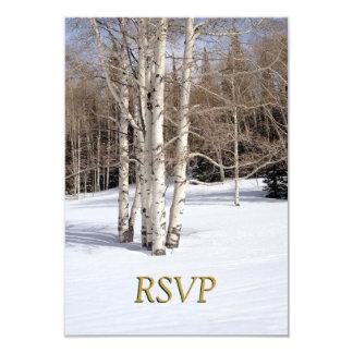 RSVP Winter Wedding Aspen Trees in Snow Card