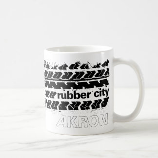 Rubber City Tire Tread Coffee Mug