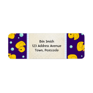 Rubber Duckie address label