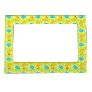Rubber ducky and soap pattern. magnetic frame
