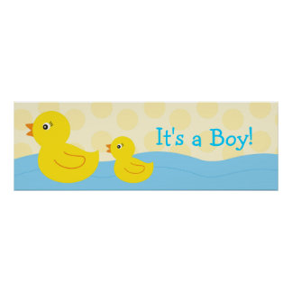 Rubber Ducky Duck Personalised Banner Sign Poster
