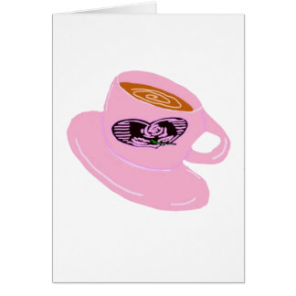 Rubber Stamp Coffee Cup Card