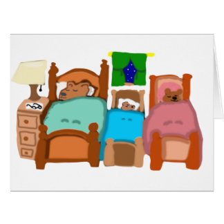Rubber Stamp, The Three Bears, In Color Card