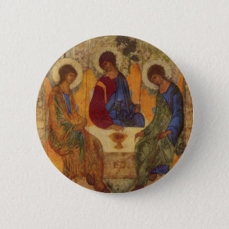 Rublev Trinity at the Table 6 Cm Round Badge