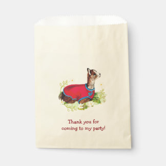 Ruby Alpaca Birthday Party Favor Bags Favour Bags