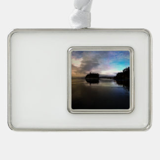Ruby Beach Sunset | Olympic NP Silver Plated Framed Ornament