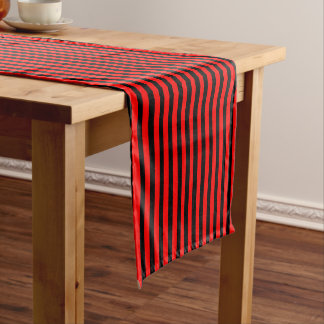 Ruby Black Short Table Runner