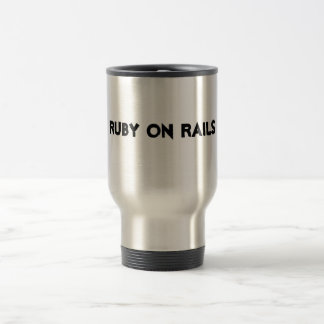 Ruby on rails stainless steel travel mug