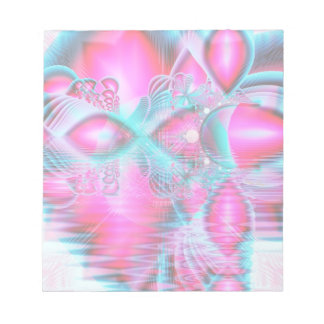 Ruby Red Crystal Palace, Abstract Jewels Notepad