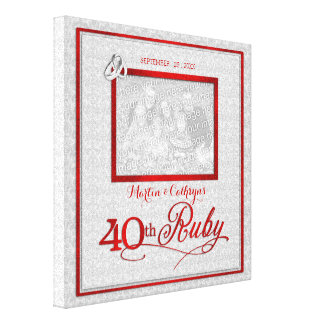 Ruby Wedding Anniversary - 11x11-inch 40th Photo Canvas Print