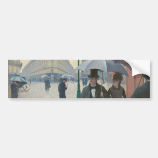 Rue de Paris Temps de Pluie by Gustave Caillebotte Bumper Sticker