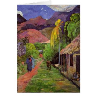 'Rue de Tahiti' - Paul Gauguin Card